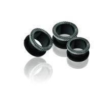Piercing, Tágító (cső), külső menetes, fekete PVD