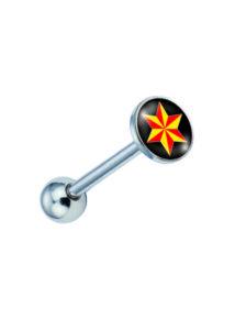 Piercing, Nyelvékszer képpel, 316L orvosi acél