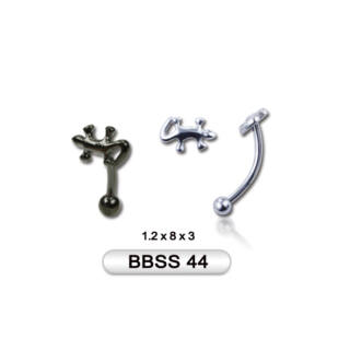 Piercing, Szemöldökékszer, 316L orvosi acél szárral, figurával