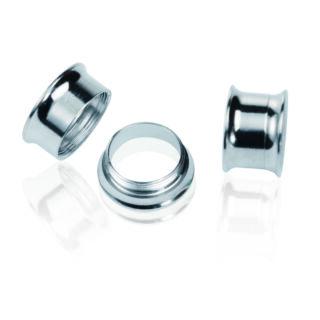 Piercing, Tágító (cső) belső menetes, 316L orvosi acél