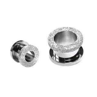 Piercing, Tágító (cső), 316L orvosi acél, gyémántpor csiszolású