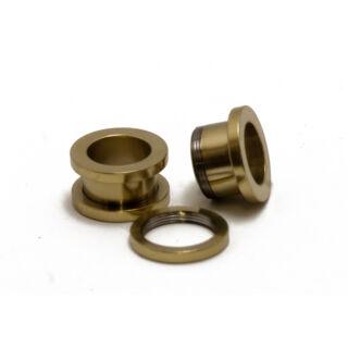Piercing, Tágító (cső), külső menetes, arany színű PVD