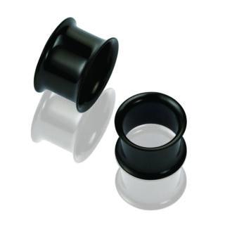 Piercing, Tágító (cső) menet nélküli, fekete PVD