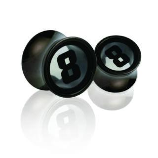 Piercing, Tágító (dugó), fekete PVD