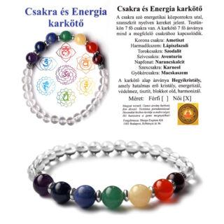 Csakra és energia karkötő, Hegyikristály