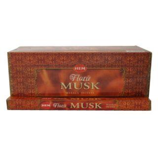 Füstölő, HEM Flora Musk, 8 szál