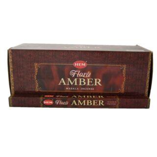 Füstölő, HEM Flora Amber, 8 szál