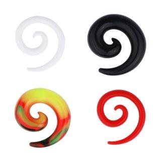 Piercing, Tágító, csiga, flexibilis szilikon