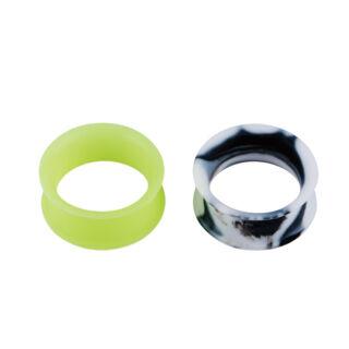 Piercing, Tágító (cső), flexibilis szilikon