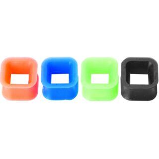 Piercing, Tágító (négyzet formájú), flexibilis szilikon