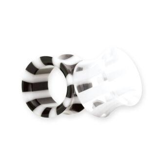 Piercing, tágító (cső), bőrbarát műanyag