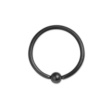 Piercing, Karika formájú ékszer, fekete PVD