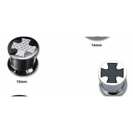 Piercing, Tágító (dugó) belső menetes, 316L orvosi acél