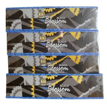 Prémium Füstölő, Satya Black Blossom, 35 gr