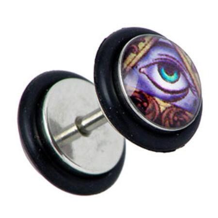 Piercing, Álfültágító képpel, 316L orvosi acél