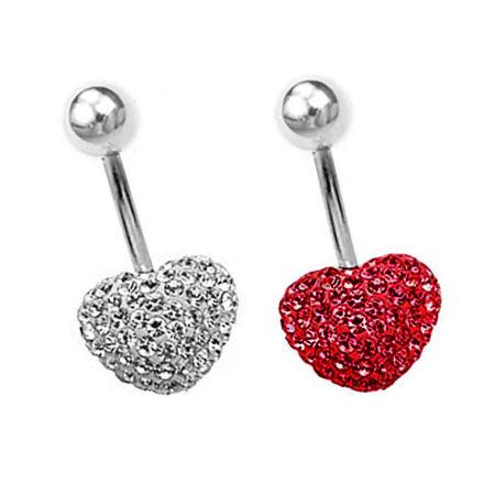 Piercing, Köldökékszer kristályokkal teli szív