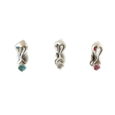Piercing, Köldökékszer ezüst dísszel, delfin