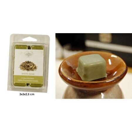 White Sage Green Tree Wax Melt -  natúr viaszkocka, 6 kocka