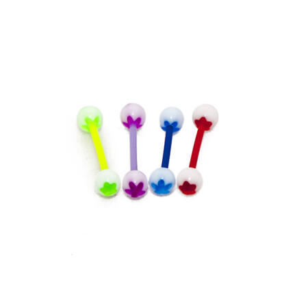 Piercing, Nyelvékszer,UV fénynél világító bőrbarát műanyag