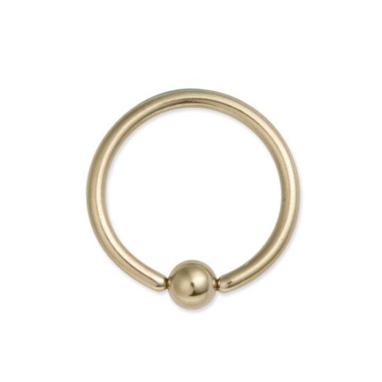 Piercing, Karika formájú ékszer, arany színű PVD