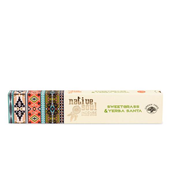 Prémium Füstölő, Green Tree Native Soul Sweetgrass-Yerba Santa, 15 gr