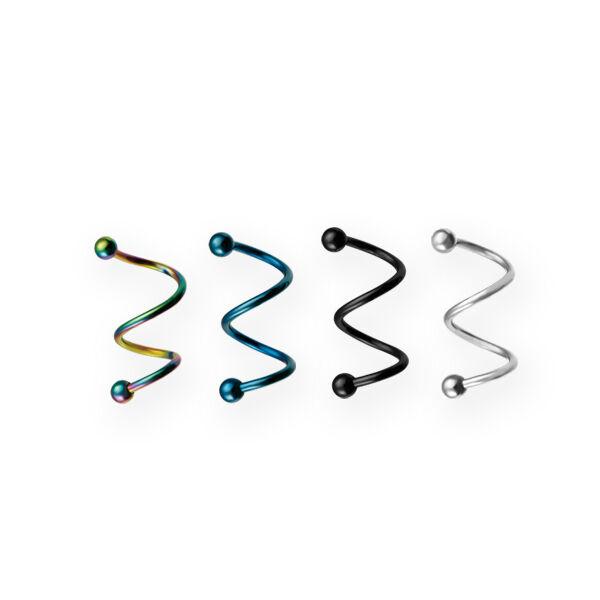Piercing, Twister, 316L orvosi acél