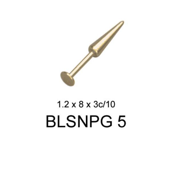 Piercing, Ajakékszer kúppal, arany színű PVD