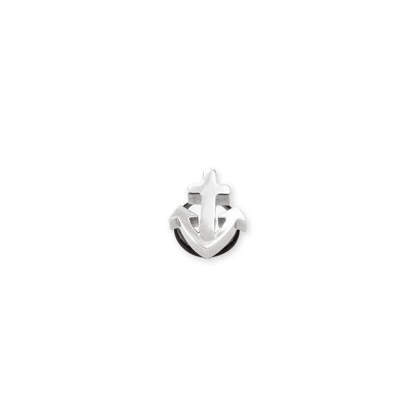 Piercing, Áltágító, figurás, kaucsuk gyűrűvel 316L orvosi acél