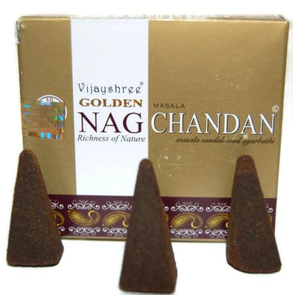 Prémium Kúpfüstölő, Golden Nag Chandan
