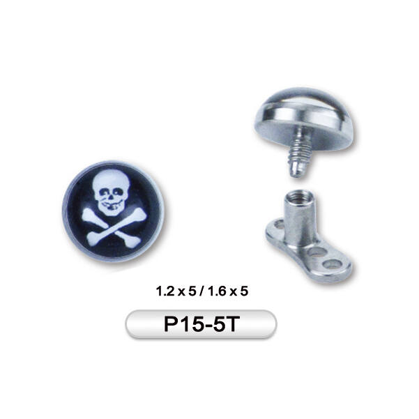 Piercing, Microdermal figurális fej, 316L orvosi acél