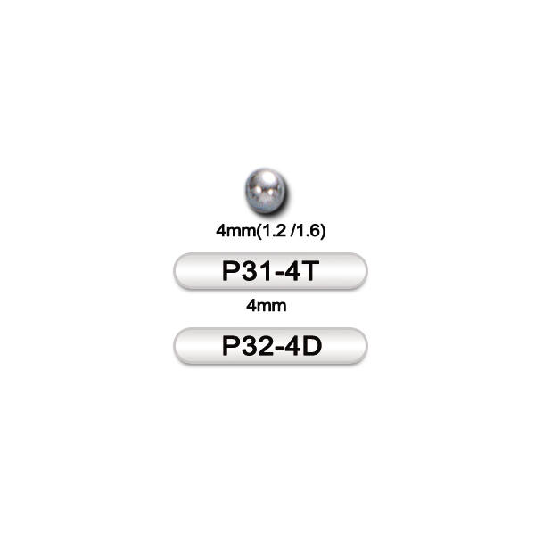 Piercing, Golyó, karika formájú, golyózáras ékszerhez, 316L orvosi acél