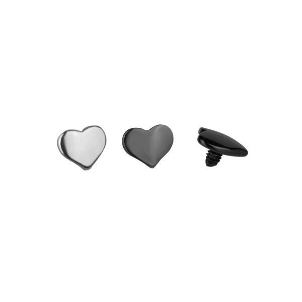 Piercing, Microdermal szív formájú fej, 316L orvosi acél