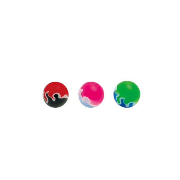 Piercing, Golyó, menetes, bőrbarát műanyag