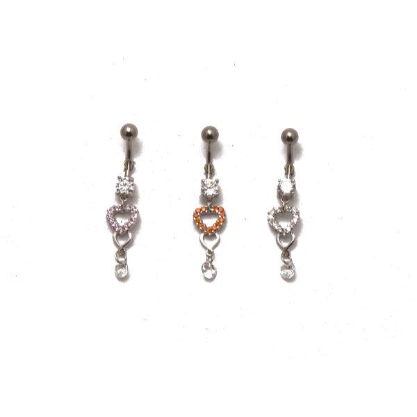 Piercing, Köldökékszer ezüst dísszel